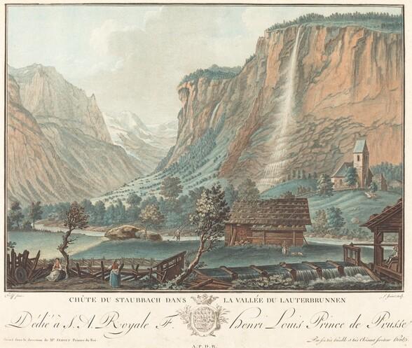 Chute de Staubbach, dans la Vallée de Lauterbrunnen (Falls at Staubbach in the Lauterbrunnen Valley)