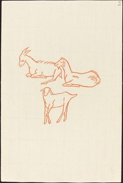Second Book: Goats, Second Plate (Chevreux, deuxieme planche)