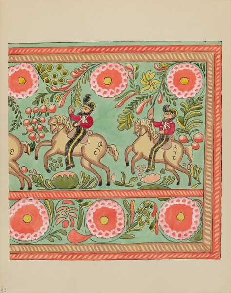 Plate 43: Painted Chest Design: From Portfolio Spanish Colonial Designs of New Mexico