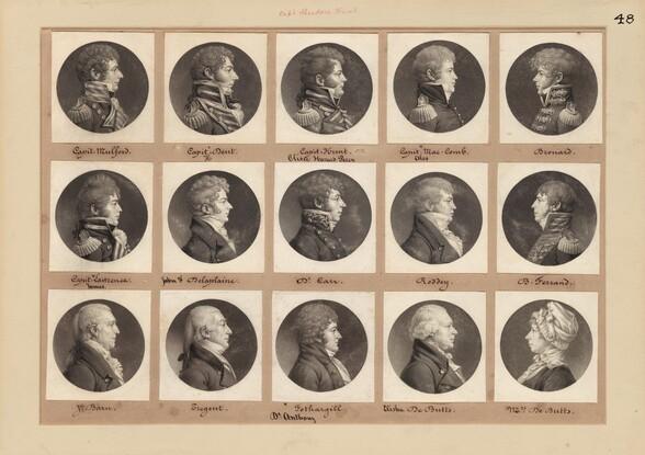 Saint-Mémin Collection of Portraits, Group 48