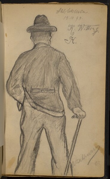 Man with Cane seen from Behind
