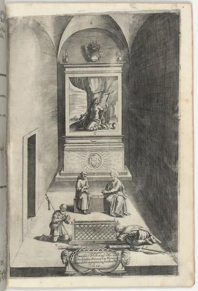 Interior of the Chapel of Mary Magdelene (Interno della cappella della Maddalena) [plate H]