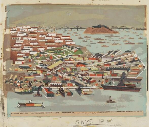 U.S. Naval Shipyard San Francisco, V-J Day - August 14, 1945