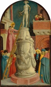 Giovanni d'Alemagna, Saint Apollonia Destroys a Pagan Idol, c. 1442/1445c. 1442/1445