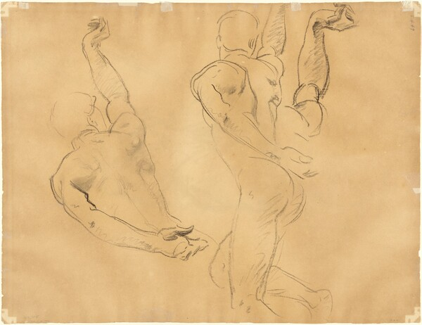 Studies of Male Nudes [verso]