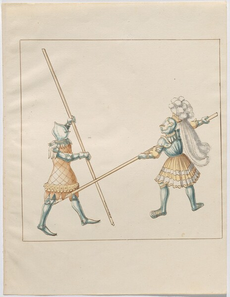 Freydal, The Book of Jousts and Tournament of Emperor Maximilian I: Combats on Foot (Jousts)(Volume III): Plate 133