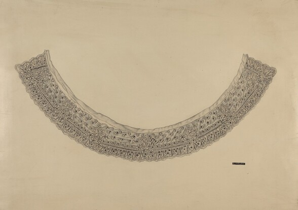 Embroidered Linen Collar