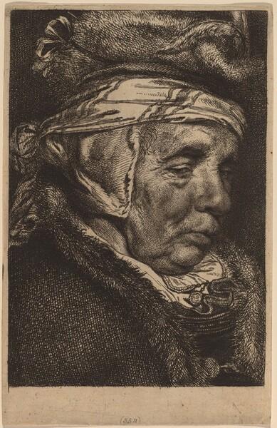 Head of an Old Woman (Visscher