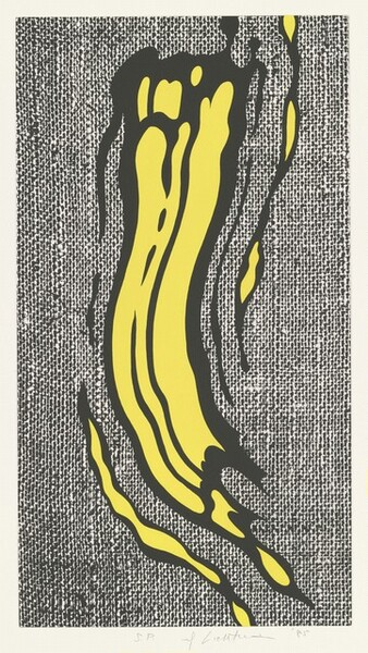 Yellow Brushstroke