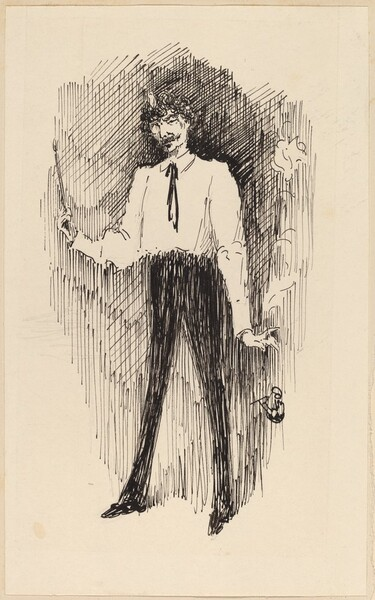 Portrait of Whistler with a Paintbrush