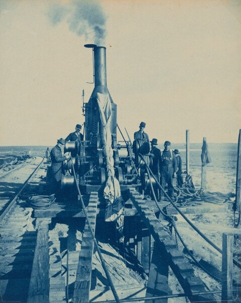 Railroad Workers and Machine