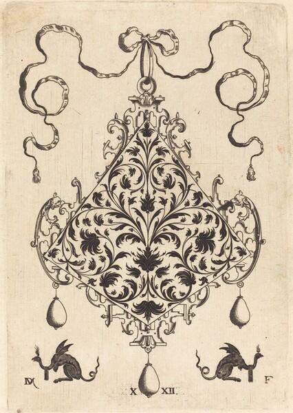 Large Pendant, Ornamental Foliage Design