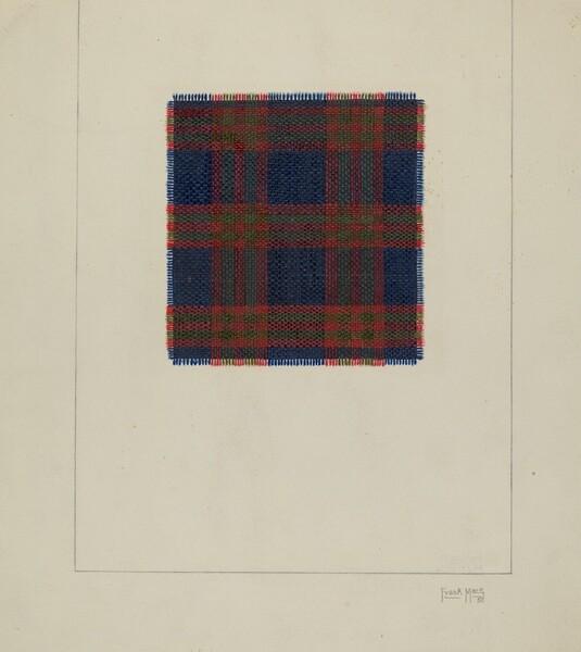 Plaid Homespun Cloth