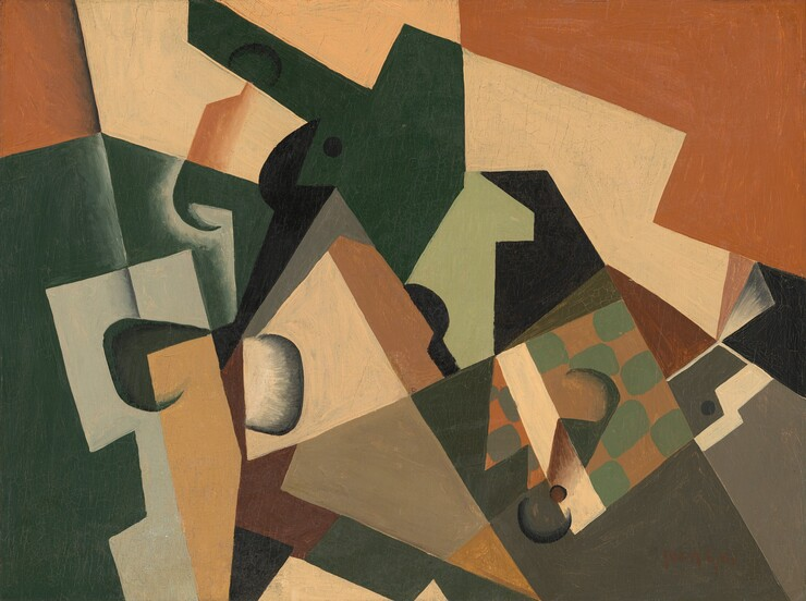 Juan Gris, Glass and Checkerboard, c. 1917c. 1917