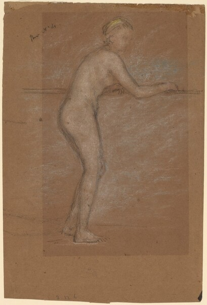Nude Leaning on a Rail [recto]