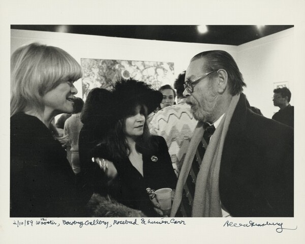 2/10/89 121 Wooster, Bowery Gallery, Rosebud & Lucien Carr