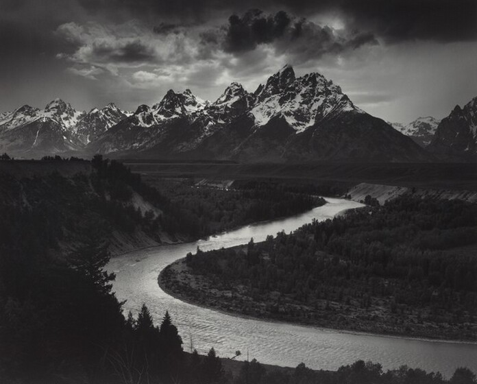 Ansel Adams, The Tetons and the Snake River, Grand Teton National Park, Wyoming, 1942, printed 1980