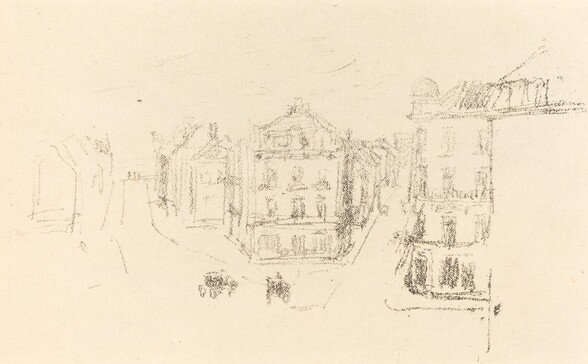 Trial Sketch: Grand Rue, Dieppe