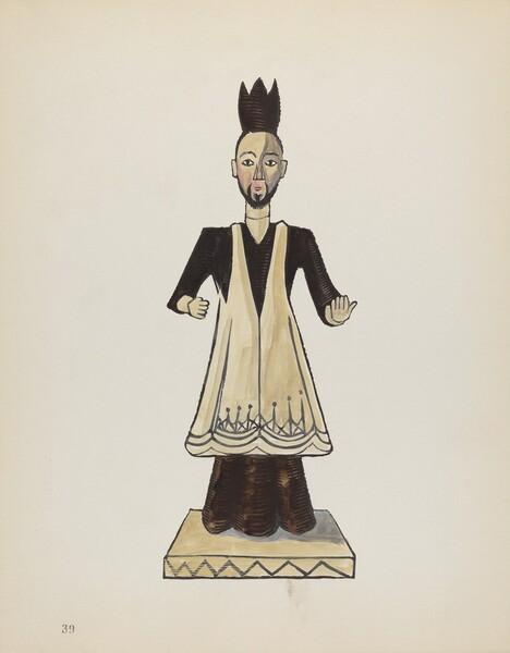 Plate 39: Saint John Nepomuk: From Portfolio Spanish Colonial Designs of New Mexico