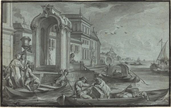 Venetian Fantasy with an Ornamental Arch
