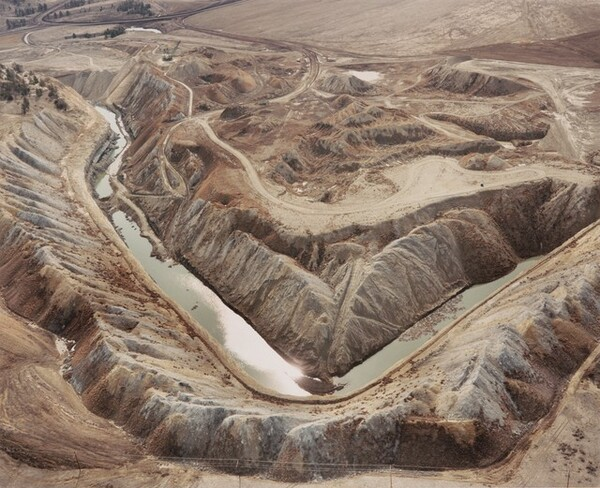 Strip Mine, Spoil Piles, and Intersected Water Table