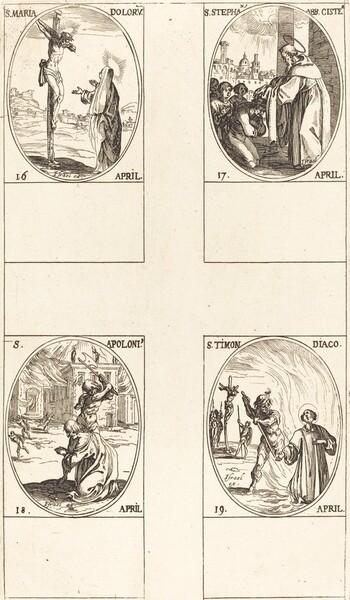 St. Maria Doloru; St. Stephen, Abbot; St. Apoloni; St. Timon