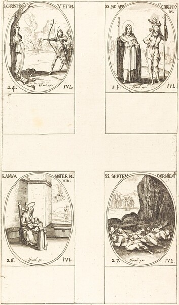 St. Christina; St. James, Apostle, and St. Christopher; St. Anne; Seven Sleepers of E