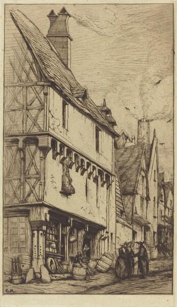 Ancienne habitation à Bourges, dite La Maison du Musicien (An Old House at Bourges, Sometimes Called the Musician