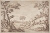 A Pastoral Journey with a Boy Playing His Flute by a Tree