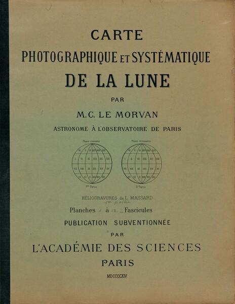 Carte photographique et systématique de la lune (Photographic and Systematic Chart of the Moon)