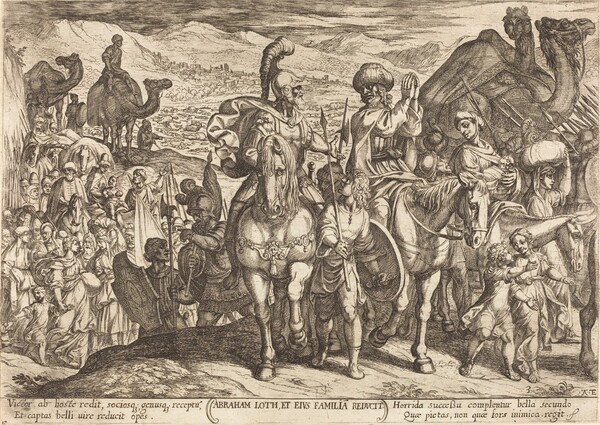 Lot and His Family recalled home by Abraham