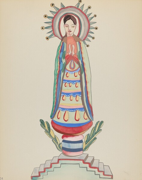 Plate 34: Our Lady of Light: From Portfolio Spanish Colonial Designs of New Mexico