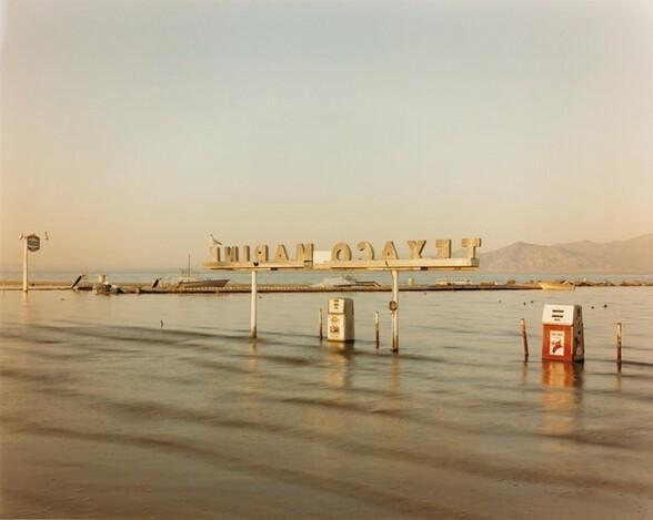 Flooded Marina (Gas Pumps), Salton Sea, California