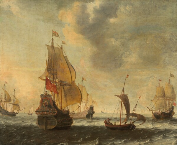 Dutch Ships in a Lively Breeze