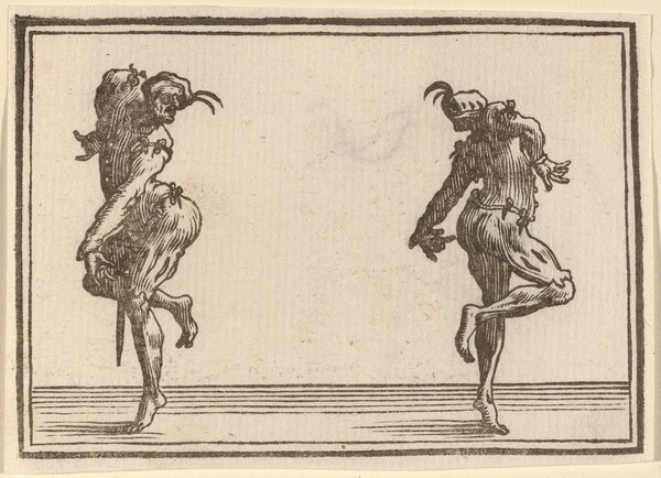 Two Pantaloons Dancing