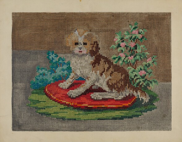 Needlepoint Dog