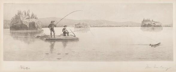 Untitled (Log Raft Fishing)