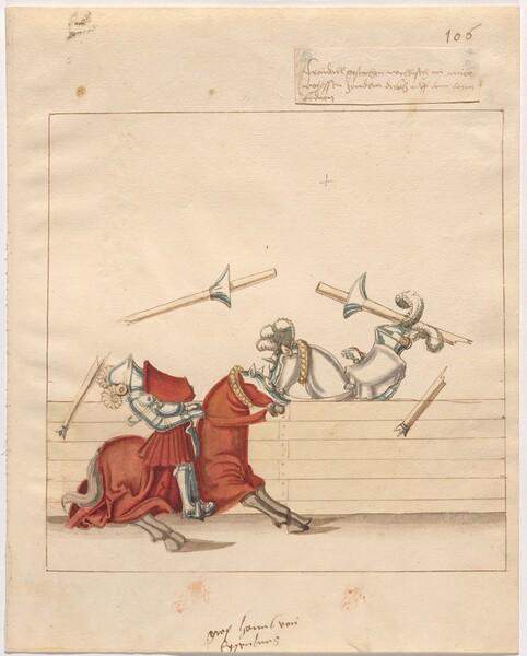 Freydal, The Book of Jousts and Tournament of Emperor Maximilian I: Combats on Horseback (Jousts)(Volume II): Graf Hans von Eysenburg Plate 95