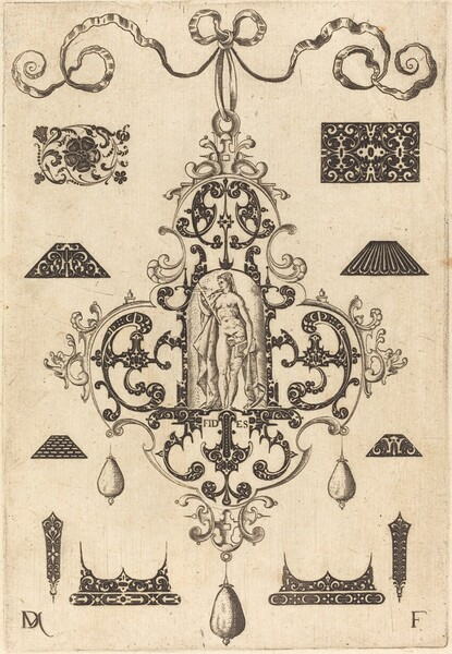 Large Pendant, Faith Standing at Centre