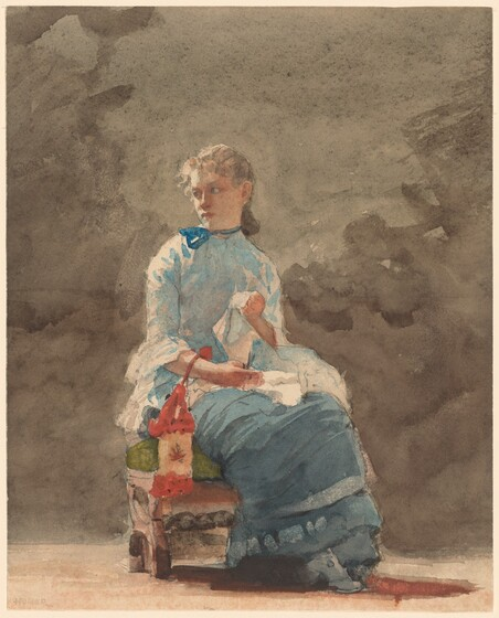 Winslow Homer, Young Woman Sewing, 18761876