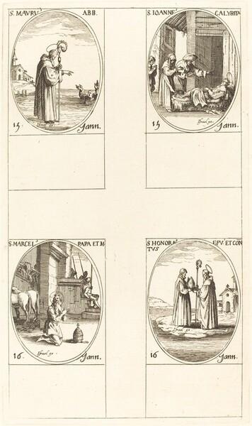 St. Maurus; St. John Calybite;  St. Marcellus; St. Honoratus