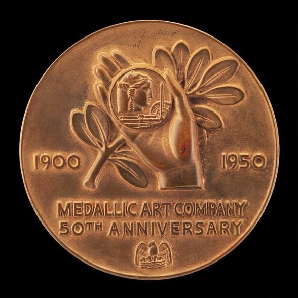 Fiftieth Anniversary Medal of Medallic Art Company [reverse]