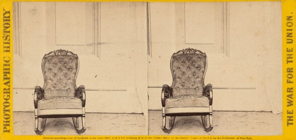 The Chair That President Lincoln Occupied at the Time of His Assassination at Ford