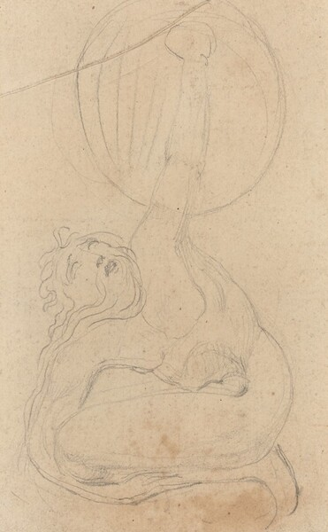A Crouching Figure Holding a Shield [verso]