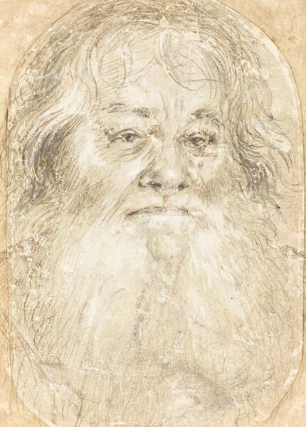 Study of a Bearded Man [verso]