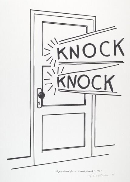 <p>Roy Lichtenstein, Knock, Knock Poster, 1975