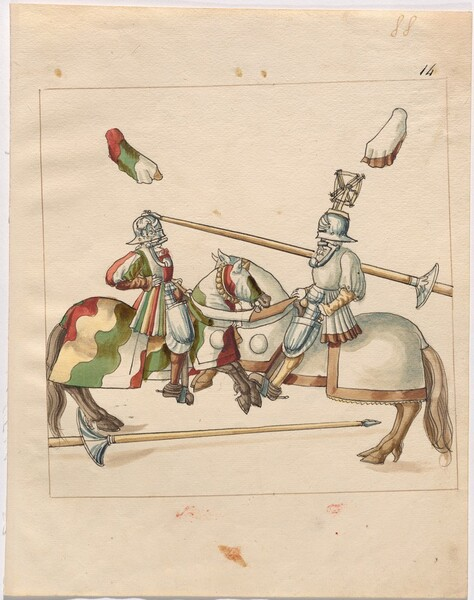 Freydal, The Book of Jousts and Tournament of Emperor Maximilian I: Combats on Horseback (Jousts)(Volume II): Plate 79