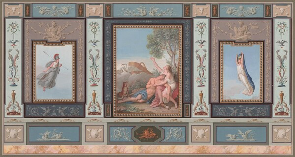 Elaborate Wall Decorations with Venus and Adonis