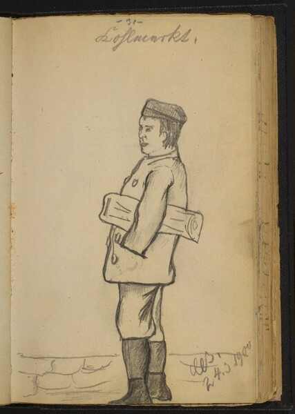 Boy with a Paper under His Arm