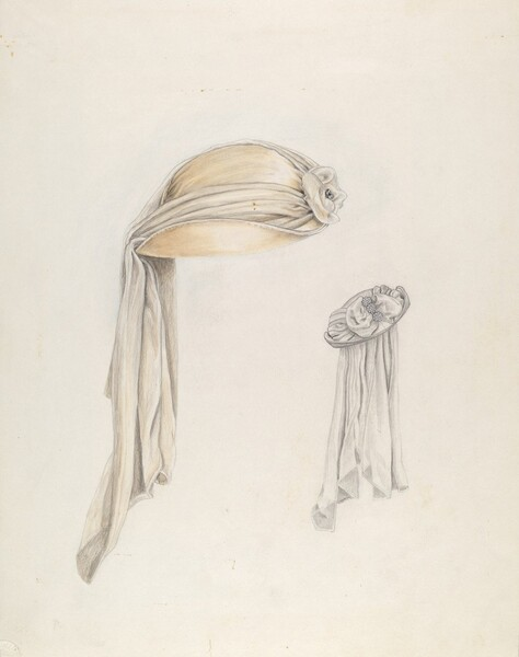 White Satin Hat